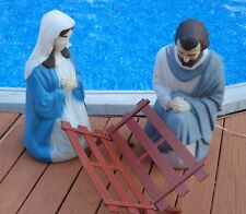 Vintage Empire Nativity Blow Mold Set Illuminated Christmas Lighted