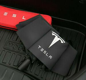 Tesla logo Windproof Automatic Umbrella Teflon Coating Portable Travel Umbrella