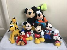 New listing Disney Mickey Mouse Pluto & Goofy Plush Toy Lot Of 9 Items