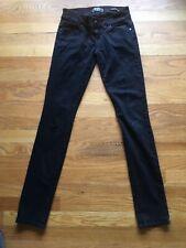 GUESS DAREDEVIL SKINNY BLACK Jeans - Size 25, W26, L31, Rise 6.5