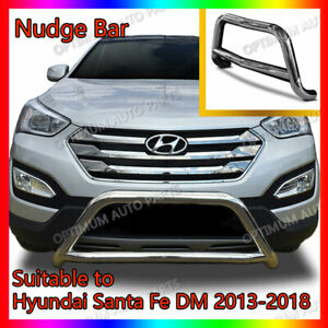 Stainless Steel Nudge Bar to suit Hyundai Santa Fe DM 2013-2018