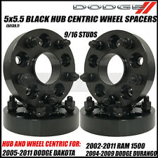 Dodge Ram 5x5.5 Hub Centric Wheel Adapter Spacers 1.5 Inch Thick 9/16-18 Studs