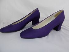 Women's Dyables by highlighter Purple Satin Heels Shoes Size 10