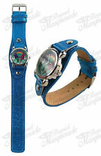 Dreamworks Trolls Watch with Metal Face and Royal Blue Glitter Band