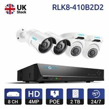 Reolink 8CH PoE NVR Security System Kit HD 4MP IP Cameras 2TB HDD RLK8-410B2D2