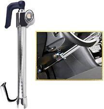 Tevlaphee Car Steering Wheel Lock Brake Pedal Clutch Lock Retractable Hook