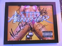 STEEL PANTHER SIGNED 12x16 FRAMED SIGNED AUTOGRAPHED PHOTO BALLS OUT PROOF RARE