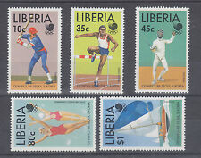 Liberia Sc 1091-1095 MNH. 1988 Seoul Olympics, Wholesale Lot of 10 Sets, VF