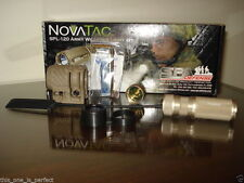 NEW NOVATAC SPL 120 SPA DEFENSE WEAPON LIGHT KIT TACTICAL FLASHLIGHT IR FILTER