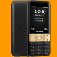 Philips E180 Gold FM 85 Days Dual SIM Standby GSM 2G Quadband Mobile Cell Phone