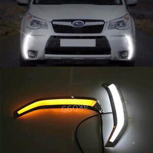 Switchback Bumper LED Daytime Running Light DRL Kit For Subaru Forester XT 13-15