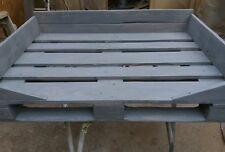 Cuccia per cane divanetto realizzata con bancali 80x120 Epal shabby grigio