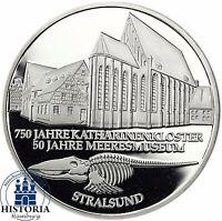 BRD 10 DM Meeresmuseum Stralsund 2001 Silber Spiegelglanz Münze in Münzkapsel