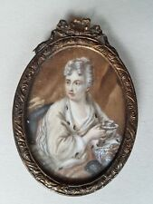 Miniatur Portrait der Maria Josepha von Österreich, 19. Jahrhundert, Gouache