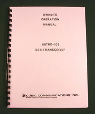 Cubic Astro 103 Instruction Manual - Premium Card Stock Covers & 28lb Paper!
