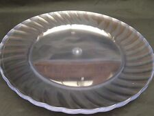 20 X  Clear Round Plastic Serving plate   15Cm