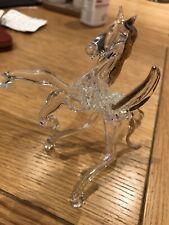 Glass Horse Ornament Pegasus