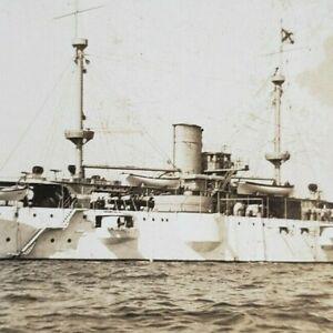 Battleship USS Texas 1901 Pre-Dreadnought US Navy Ship Photo Stereoview B268