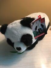 "New Panda Bear Plush Eating Eucalyptus Leaf Stuffed Animal Toy Aurora 10"" Long"
