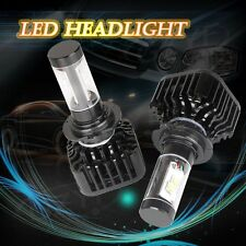 New Pair 80W 8000LM H7 Car LED Headlight Beam Light Bulb 6000K White Power DT1