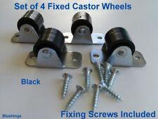 Set of 8 Rigid Nylon Castors Wheel Fixed /Beds /Furniture/Boxes 14 mm Diameter