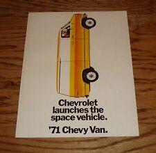 Original 1971 Chevrolet Chevy Van Sales Brochure 71