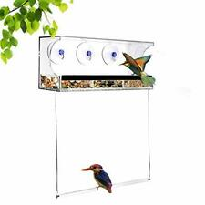 New listing Window Bird Feeder Bird Feeders For Outside With Sliding Seed Holder And 3 Extra