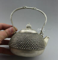 Chinese Tibet silver beautiful portable teapot