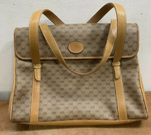 Vintage Gucci Micro GG Leather Satchel Shoulder Bag Purse Made In Italy