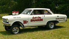 "1965 Nova AWB ""Salt City Shaker""  Drag Car 1/25th scale model car decal"