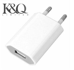 2 Pin European Wall Plug USB Charger Europe Fast Charger 2.1A  EU Euro White