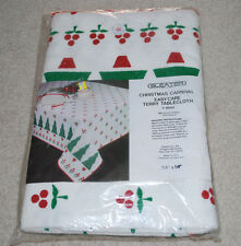 """Sleater Christmas Carnival Easy Care Terry Tablecloth 54""""x54"""" T-8660 Table Cloth"""