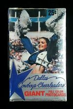 1981 Topps Dallas Cowboys Cheerleaders Giant Full Color Photocards Sealed Box