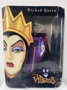 """DISNEY VILLAINS - WICKED QUEEN from SNOW WHITE - 12"""" DOLL IN ORIGINAL PACKAGING"""