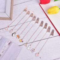 Cute Kawaii Pendant Book Markers Metal Bookmarks Gifts School Office Supplies