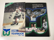1984-1986 Hartford Whalers Official Team Yearbook NHL Hockey Lot of 2 Near Mint