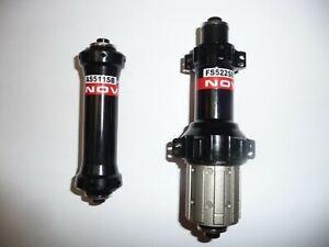 Novatec AS511SB/AS522SB 20h/24h Straight Pull lightweight road bike hubs.