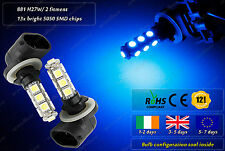 2x 881 H27W/2 LED Xenon Blue Strobe Police Garda Look Flashing Strobe Bulbs 12v