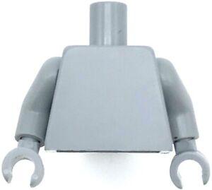 Lego New Light Bluish Gray Minifig Torso Plain Monochrome Same Color Arms Piece