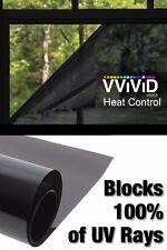 "60"" x 78"" Heat Control 100% UV Block Dark Window Vinyl Wrap Roll Privacy Film"