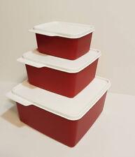 Tupperware 3 Kühlschrankbehälter, Frischebehälter Set, Kühle-Ecken Set 3 tlg Rot