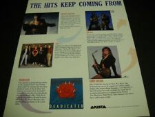 Whitney Houston Candy Dulfer The Klf Yes Grateful Deadicate 1991 Promo Poster Ad