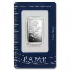 Lingot Suisse PAMP 1/2 Once argent pur / PAMP ROSA 1/2 Oz Fine Silver 999 Bar