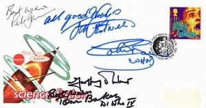 *RARE* DR WHO SIGNED FIRST DAY COVER JON PERTWEE TOM BAKER PETER DAVISON