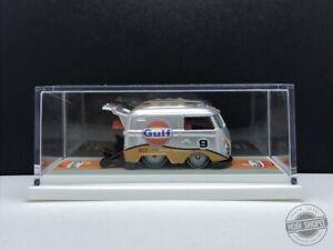 Custom 1:64 Hotwheels> Gulf Vw Kool Kombi Chrome Real riders with Art box