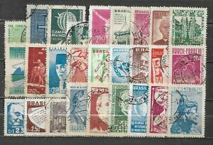 BRAZIL, 27 VARIOUS,  USED