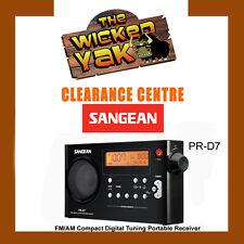 Sangean FM/AM Compact Digital Tuning Portable Receiver Rechargeable PRD7 Black