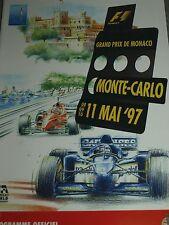 MONACO GRAND PRIX PROGRAMME 1997 MONTE CARLO OLIVIER PANIS JACQUES LAFFITE PANIS
