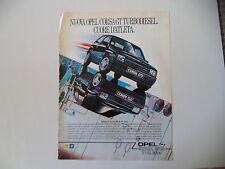 advertising Pubblicità 1988 OPEL CORSA GTD GT D