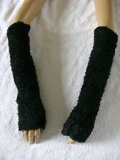 Arm Warmers Fingerless Gloves Black Bundles Of Fluff On Your Arms Poodle Fur Emo